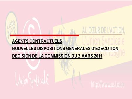 AGENTS CONTRACTUELS NOUVELLES DISPOSITIONS GENERALES D'EXECUTION