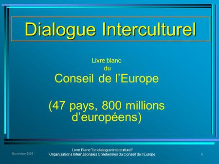 Dialogue Interculturel
