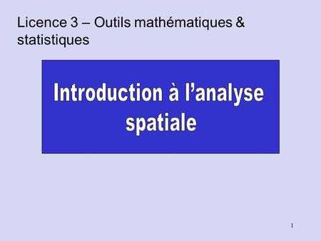 Introduction à l'analyse