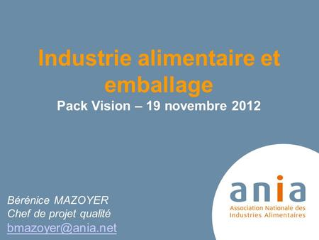 Industrie alimentaire et emballage
