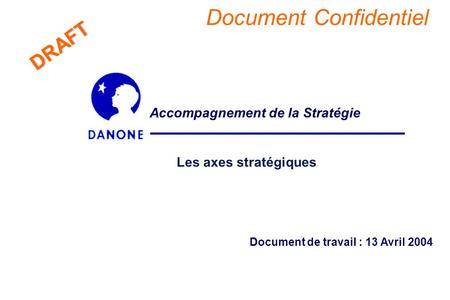 Document Confidentiel