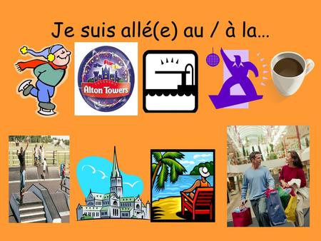 Je suis allé(e) au / à la…. Je suis resté(e) & Cétait Le but: In this lesson you will be learning how to say where you stayed on your holiday. Also we.