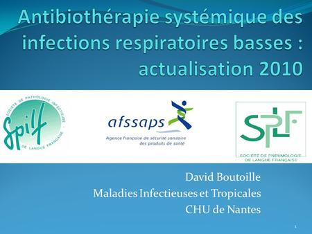 David Boutoille Maladies Infectieuses et Tropicales CHU de Nantes 1.
