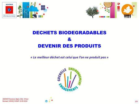 DECHETS BIODEGRADABLES &