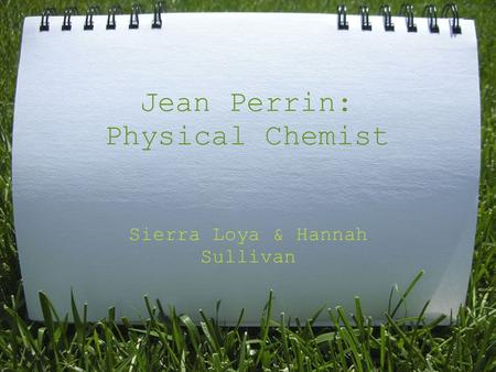 Jean Perrin: Physical Chemist