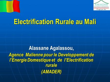 Electrification Rurale au Mali