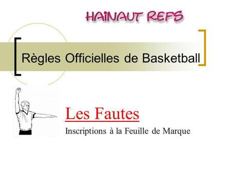 Règles Officielles de Basketball