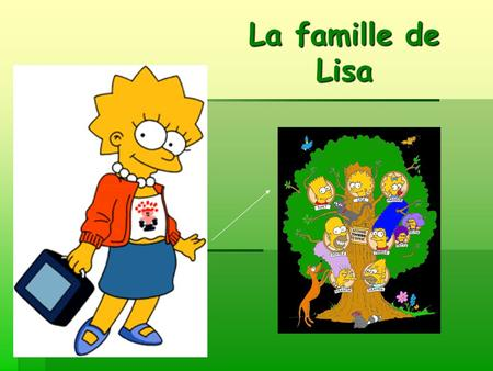 La famille de Lisa. La famille: les objectifs Today you will learn how to: introduce members of your family in French, say what they are called, talk.