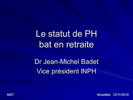 Le statut de PH bat en retraite