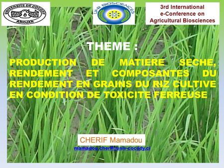 e-Conference on Agricultural Biosciences