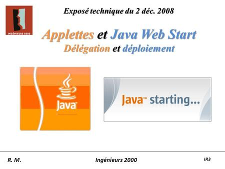 Applettes et Java Web Start