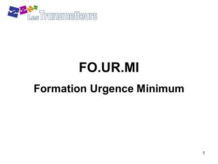 Formation Urgence Minimum
