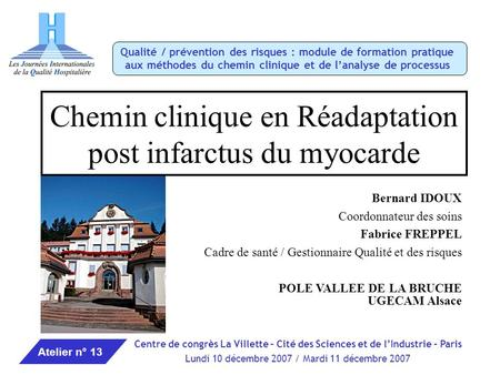 Chemin clinique en Réadaptation post infarctus du myocarde