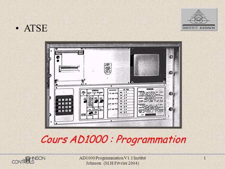 Cours AD1000 : Programmation