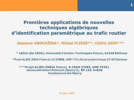 gestion du trafic routier pdf