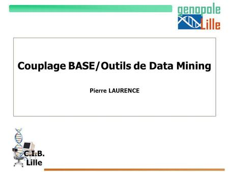 Couplage BASE/Outils de Data Mining Pierre LAURENCE