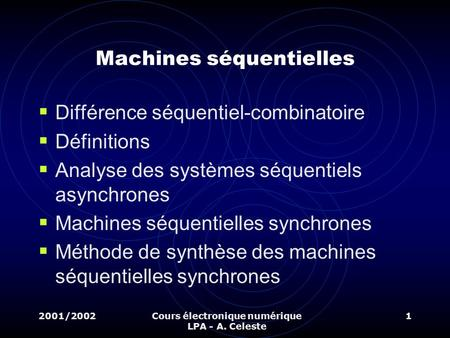 Machines séquentielles