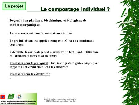 Le compostage individuel ?