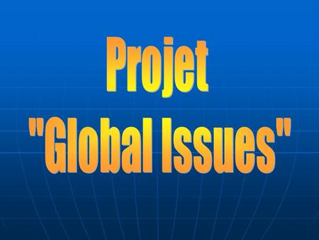 Projet Global Issues.