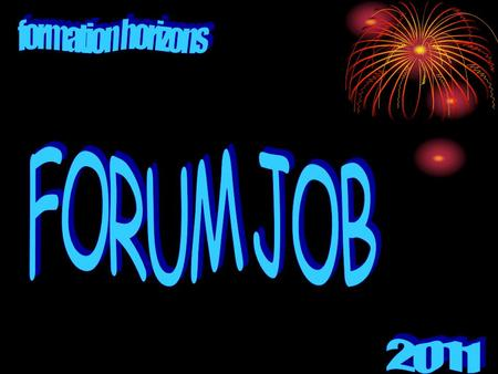 Formation horizons FORUM JOB 2011.