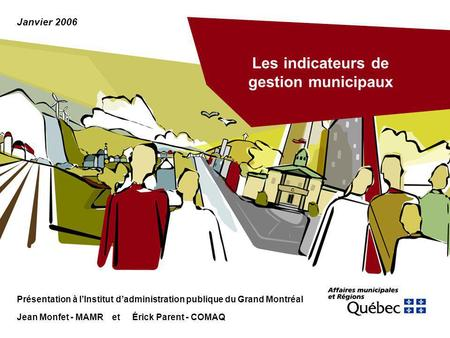 Les indicateurs de gestion municipaux