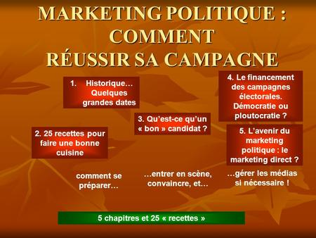 MARKETING POLITIQUE : COMMENT RÉUSSIR SA CAMPAGNE