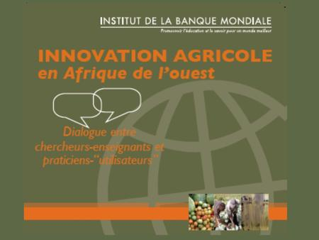 1. 2 Emergence et production dun CD-Rom « Innovation agricole » Jean-Luc BOSIO Direction des relations internationales SUPAGRO, Montpellier (ENSAM, CNEARC.
