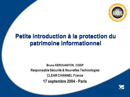 Petite introduction à la protection du patrimoine informationnel
