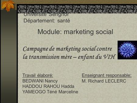 Module: marketing social