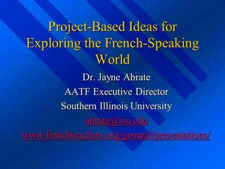 Project-Based Ideas for Exploring the French-Speaking World