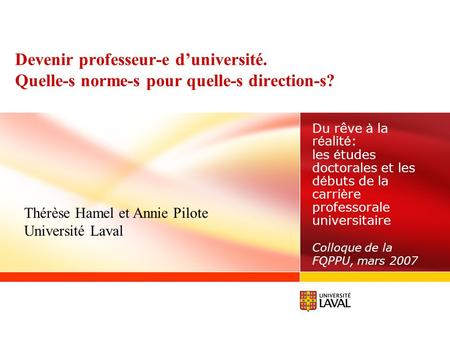 Devenir professeur-e d'université