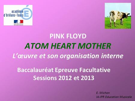 PINK FLOYD ATOM HEART MOTHER L'œuvre et son organisation interne