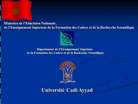 Université Cadi Ayyad Ministère de l'Eductaion Nationale,