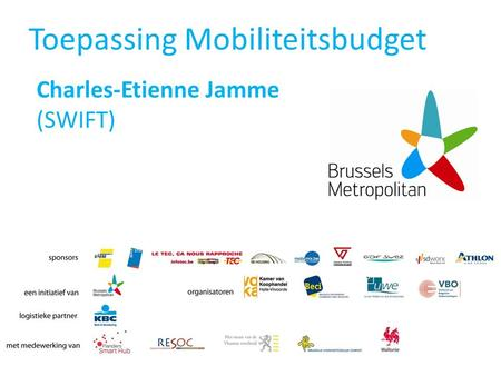 Toepassing Mobiliteitsbudget