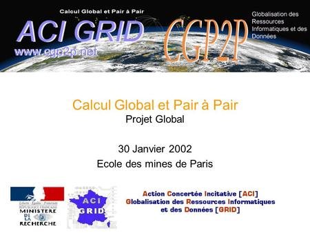 Calcul Global et Pair à Pair