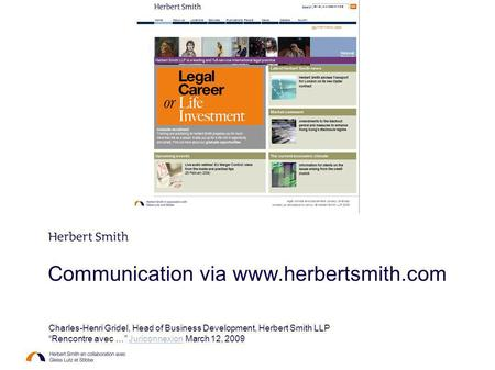 Charles-Henri Gridel, Head of Business Development, Herbert Smith LLP
