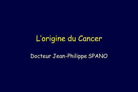 Docteur Jean-Philippe SPANO