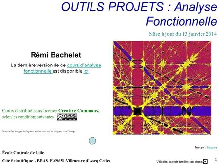 OUTILS PROJETS : Analyse Fonctionnelle