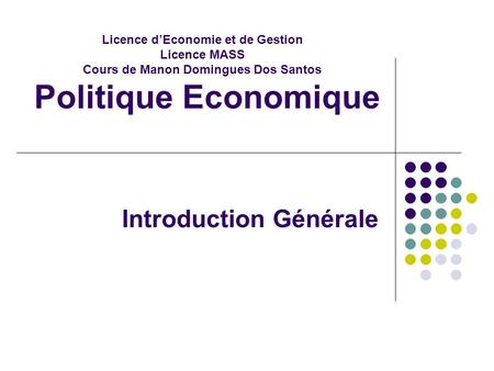 Introduction Générale