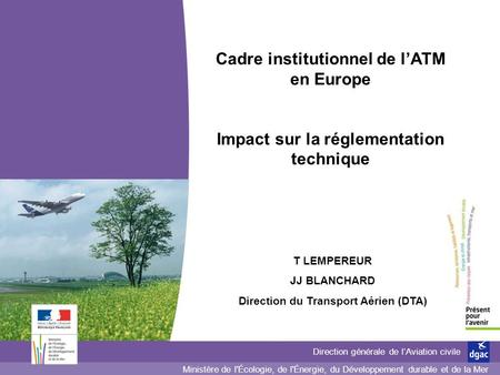 Cadre institutionnel de l'ATM en Europe
