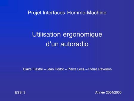 Projet Interfaces Homme-Machine