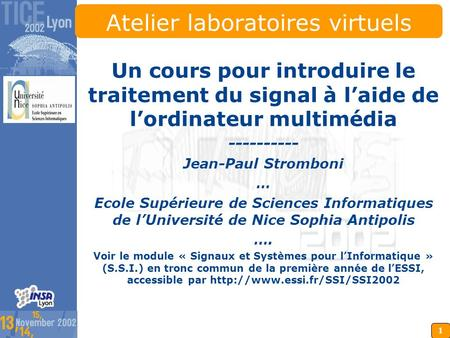 Atelier laboratoires virtuels