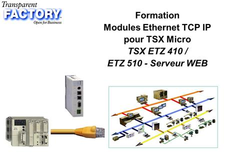 P.1 Formation Modules Ethernet TCP IP pour TSX Micro TSX ETZ 410 / ETZ 510 - Serveur WEB.