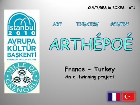 CULTURES in BOXES n°1 France - Turkey An e-twinning project.