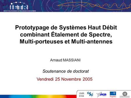 Arnaud MASSIANI Soutenance de doctorat