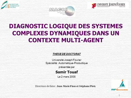 THESE DE DOCTORAT Université Joseph Fourier
