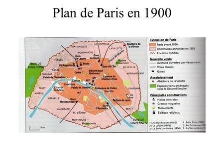 Plan de Paris en 1900.