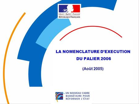 LA NOMENCLATURE D'EXECUTION
