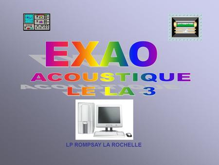 LP ROMPSAY LA ROCHELLE. INTERFACE ESAO PRIMO Menu.