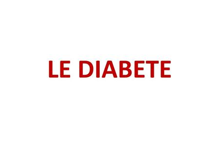 LE DIABETE. www.guidelines.diabetes.ca Grading Recommendations Grade Best Evidence ALevel 1 BLevel 2 CLevel 3 DLevel 4 High level RCT(s) or systematic.